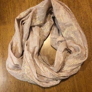 Scarf with Gold Print